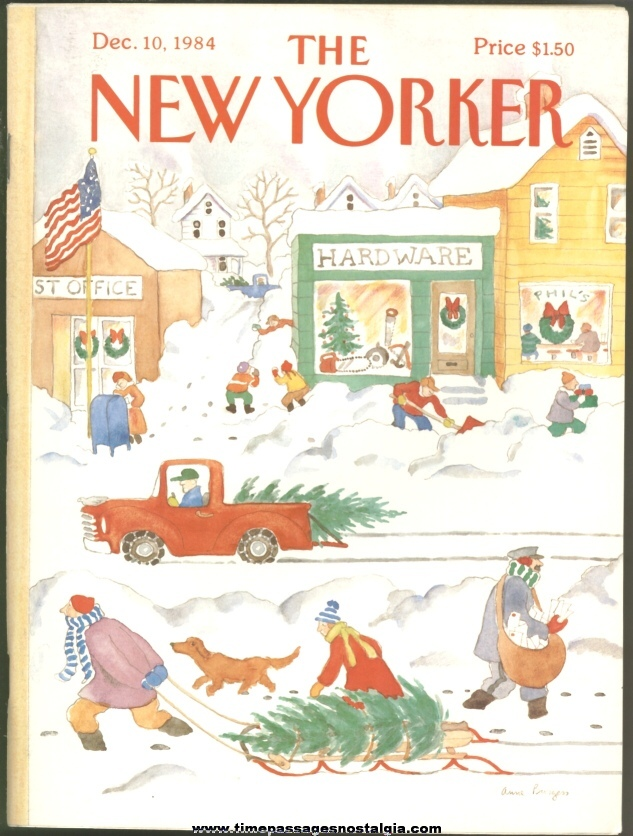 New Yorker Magazine - December 10, 1984 - Cover by Anne Burgess