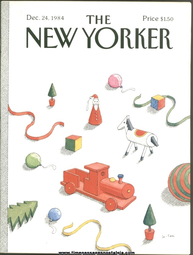 New Yorker Magazine - December 24, 1984 - Cover by Pierre Le-Tan