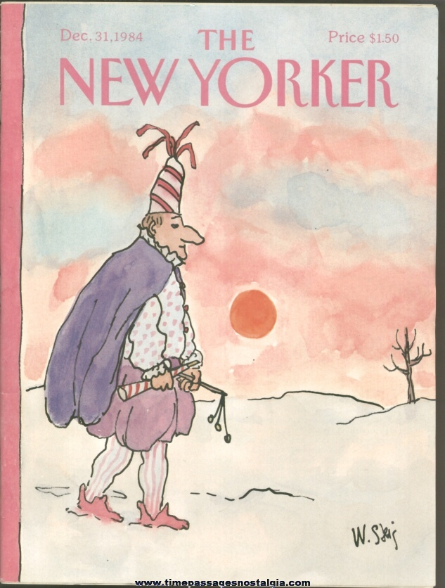 New Yorker Magazine - December 31, 1984 - Cover by William Steig