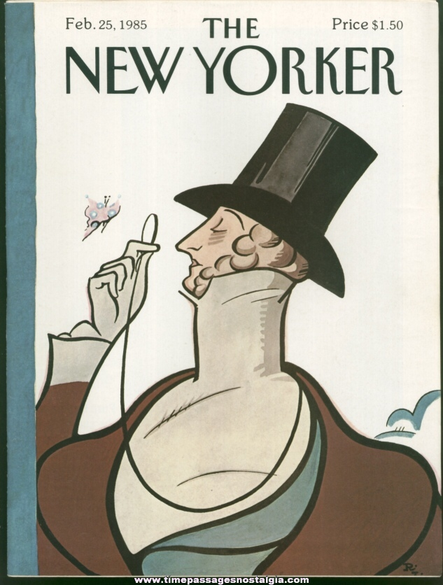 New Yorker Magazine - February 25, 1985 - Cover by Rea Irvin