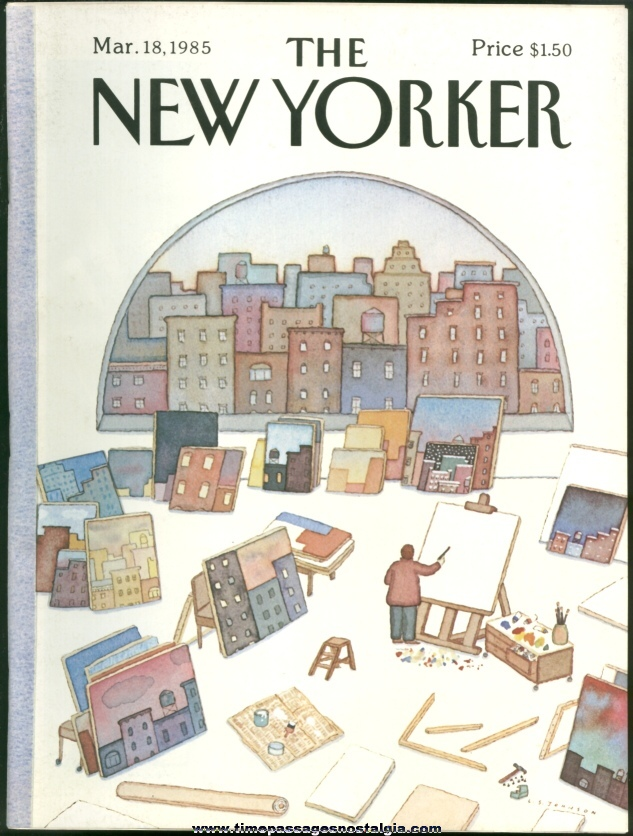 New Yorker Magazine - March 18, 1985 - Cover by Lonni Sue Johnson