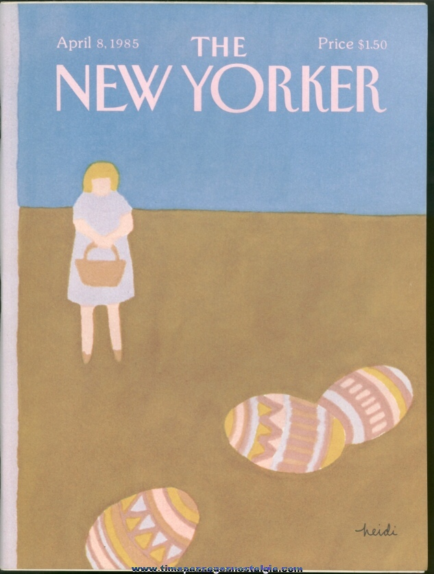 New Yorker Magazine - April 8, 1985 - Cover by Heidi Goennel