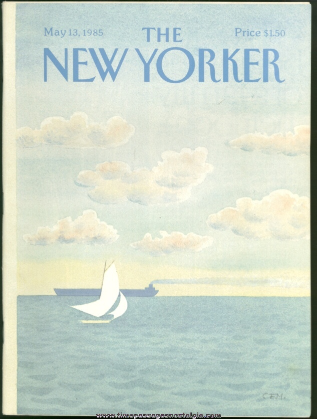 New Yorker Magazine - May 13, 1985 - Cover by Charles E. Martin