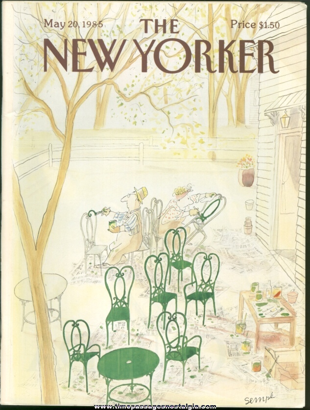 New Yorker Magazine - May 20, 1985 - Cover by J. J. Sempe
