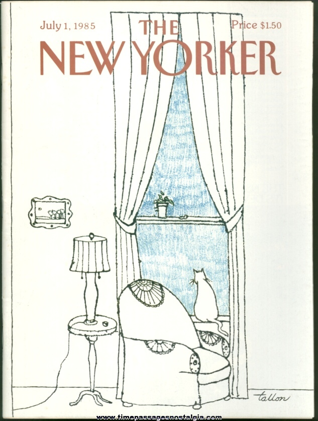New Yorker Magazine - July 1, 1985 - Cover by Robert Tallon