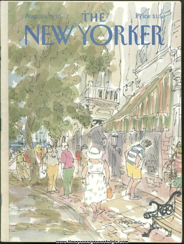 New Yorker Magazine - August 26, 1985 - Cover by James Stevenson