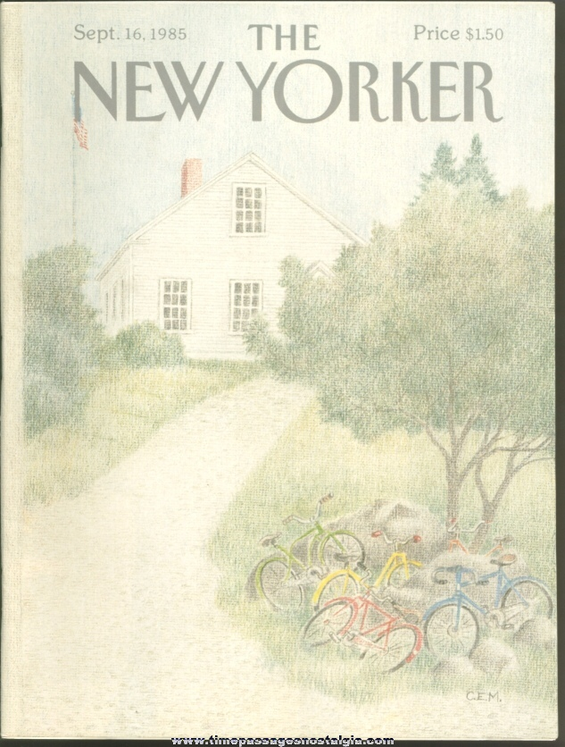 New Yorker Magazine - September 16, 1985 - Cover by Charles E. Martin