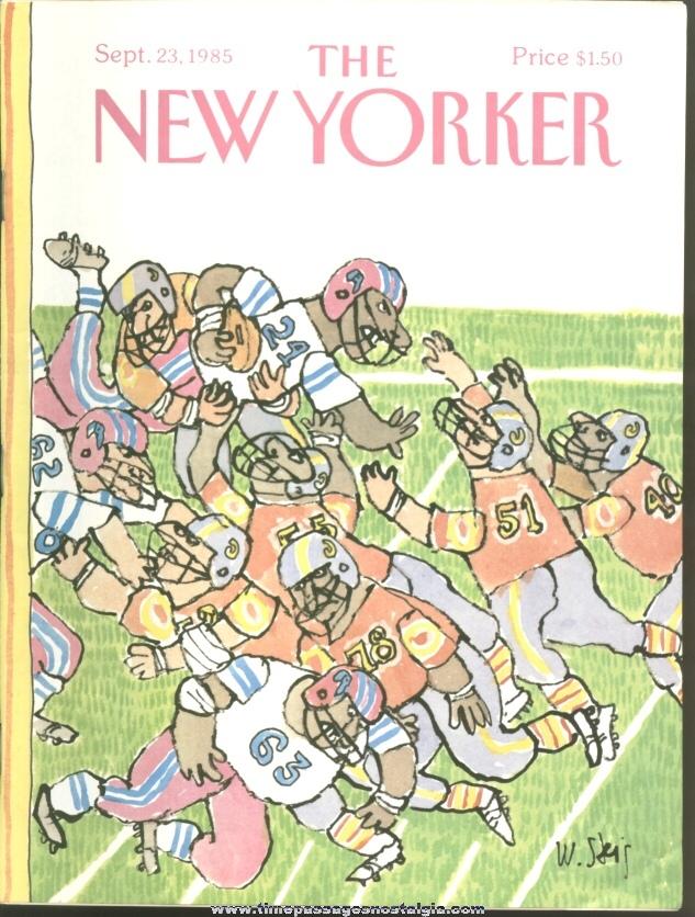 New Yorker Magazine - September 23, 1985 - Cover by William Steig
