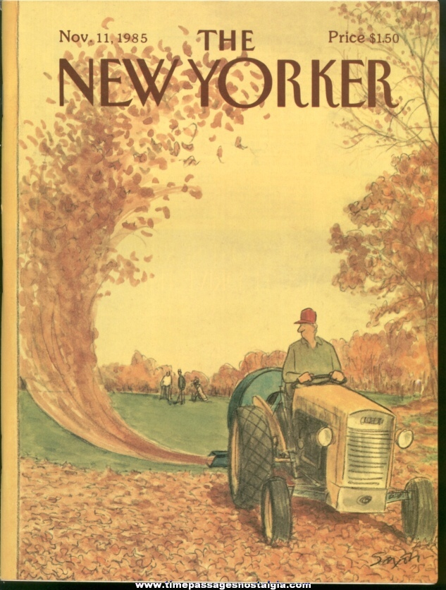 New Yorker Magazine - November 11, 1985 - Cover by Charles Saxon