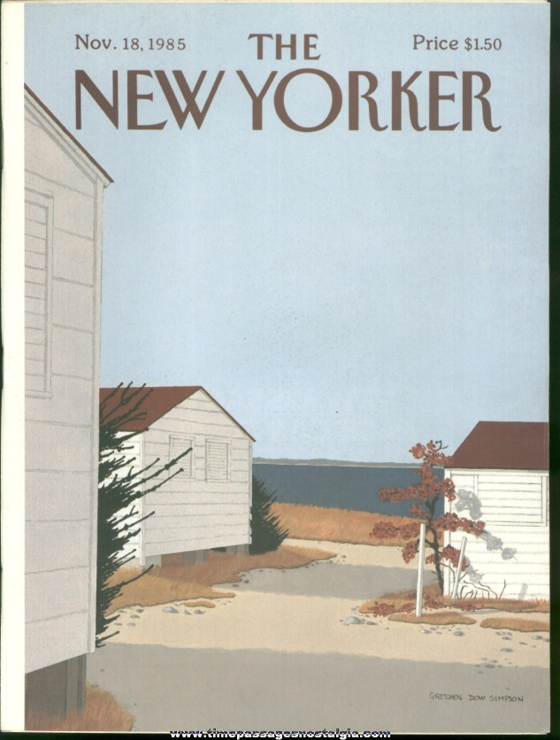 New Yorker Magazine - November 18, 1985 - Cover by Gretchen Dow Simpson
