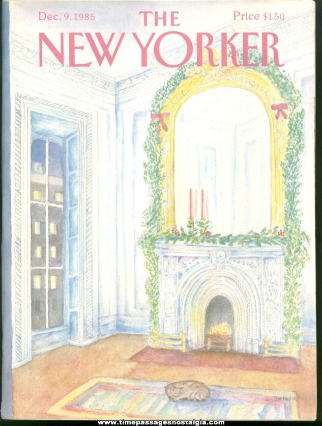 New Yorker Magazine - December 9, 1985 - Cover by Iris Van Rynbach