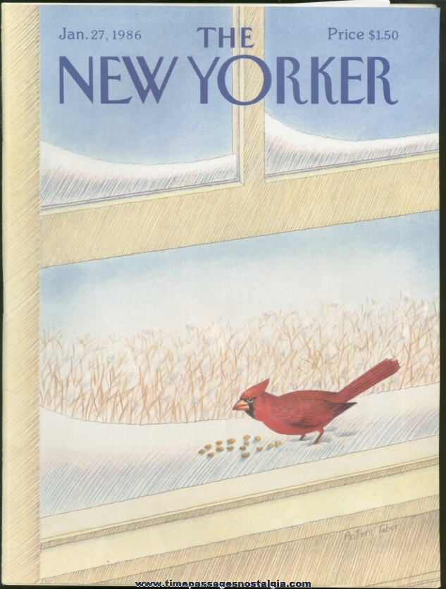 New Yorker Magazine - January 27, 1986 - Cover by Anthony Taber