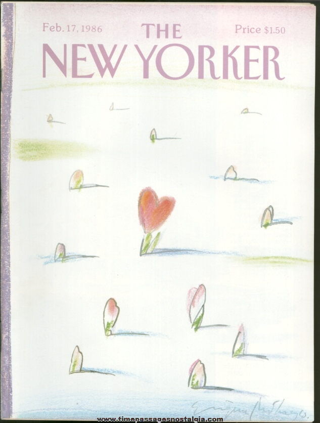 New Yorker Magazine - February 17, 1986 - Cover by Eugene Mihaesco