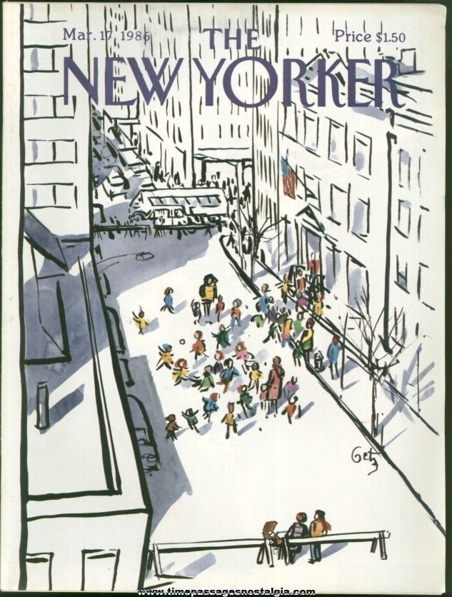 New Yorker Magazine - March 17, 1986 - Cover by Arthur Getz