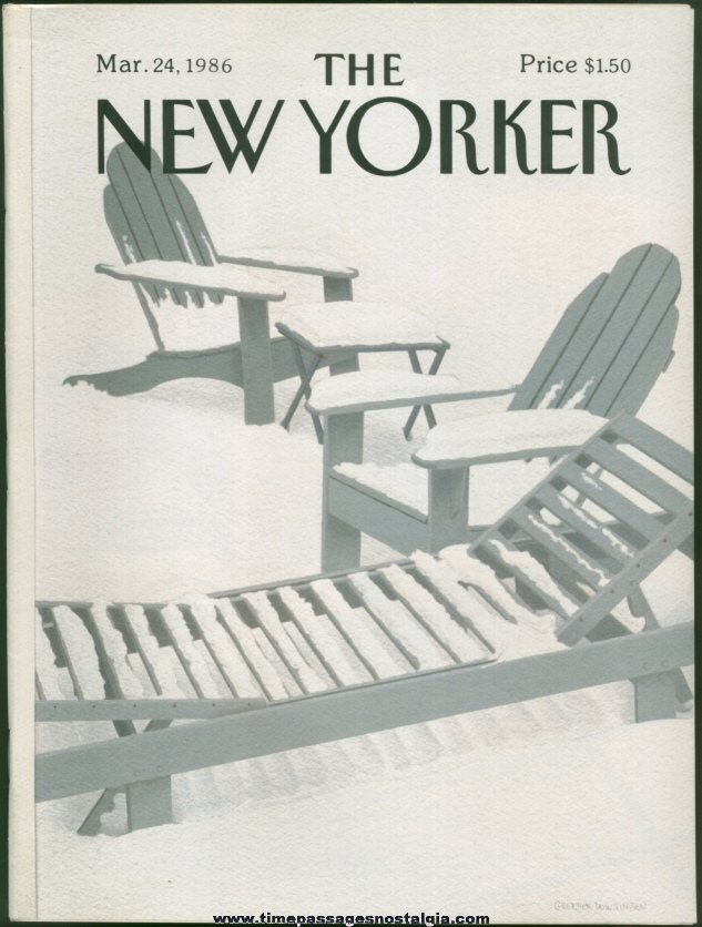 New Yorker Magazine - March 24, 1986 - Cover by Gretchen Dow Simpson