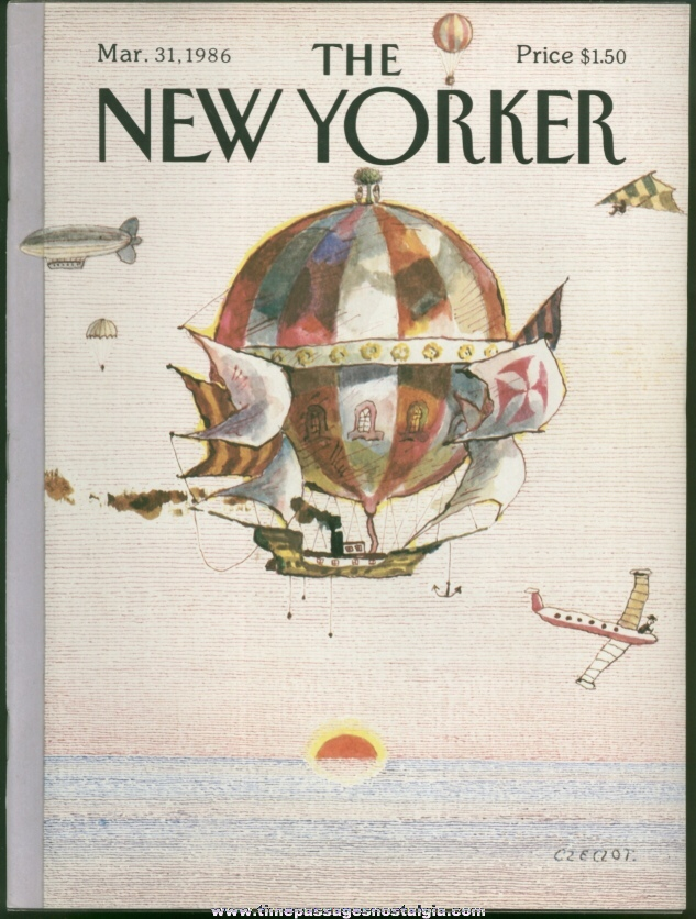 New Yorker Magazine - March 31, 1986 - Cover by Andrzej Czeczot