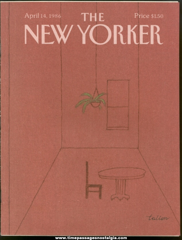 New Yorker Magazine - April 14, 1986 - Cover by Robert Tallon