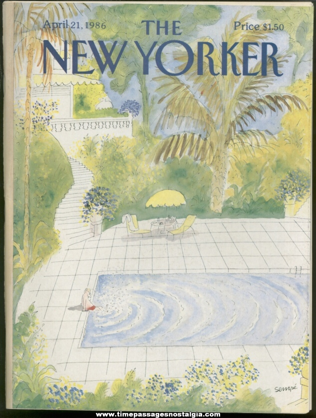New Yorker Magazine - April 21, 1986 - Cover by J. J. Sempe