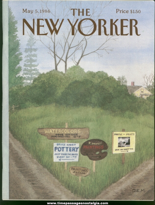 New Yorker Magazine - May 5, 1986 - Cover by Charles E. Martin