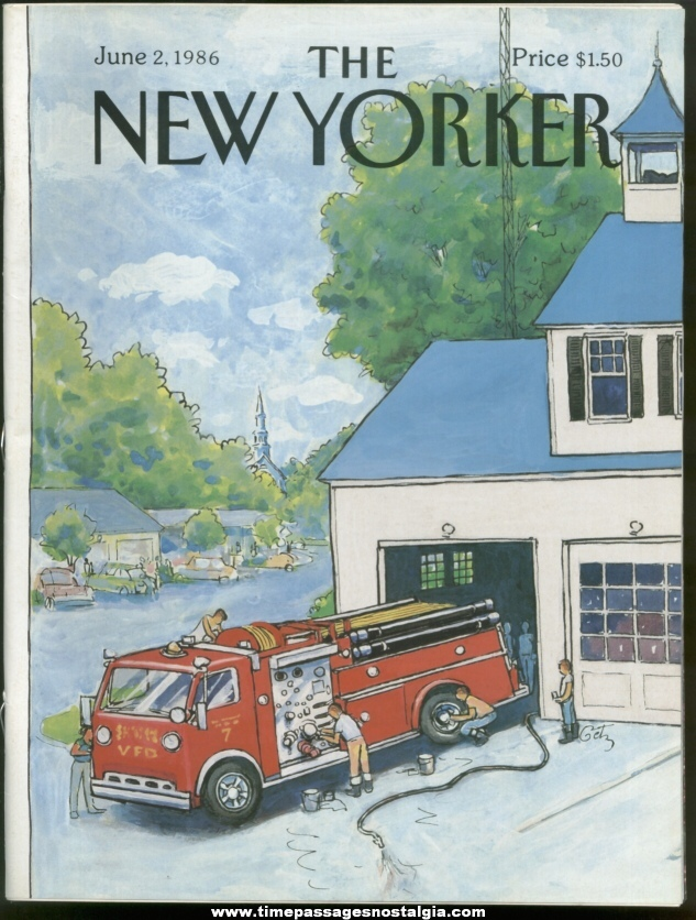 New Yorker Magazine - June 2, 1986 - Cover by Arthur Getz