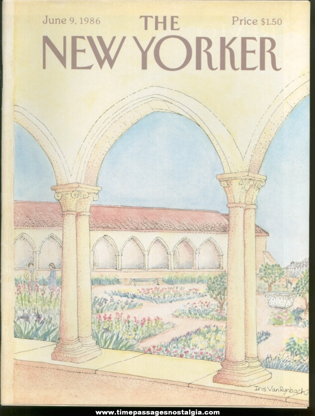 New Yorker Magazine - June 9, 1986 - Cover by Iris Van Rynbach