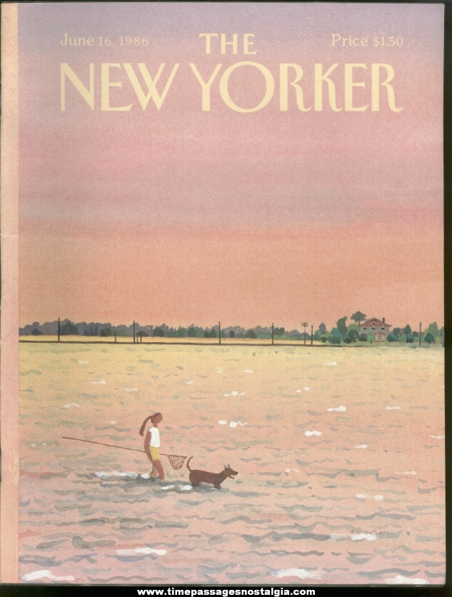New Yorker Magazine - June 16, 1986 - Cover by Susan Davis