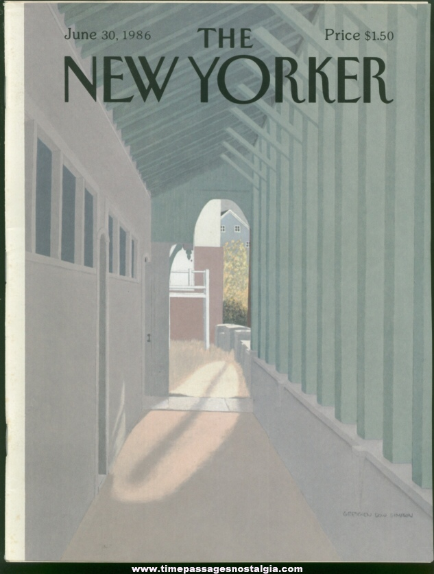 New Yorker Magazine - June 30, 1986 - Cover by Gretchen Dow Simpson