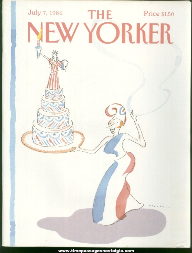 New Yorker Magazine - July 7, 1986 - Cover by R. O. Blechman