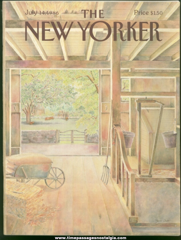 New Yorker Magazine - July 14, 1986 - Cover by Jenni Oliver