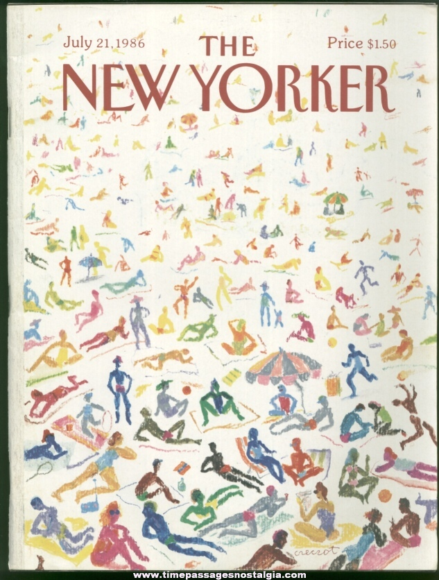 New Yorker Magazine - July 21, 1986 - Cover by Andrzej Czeczot