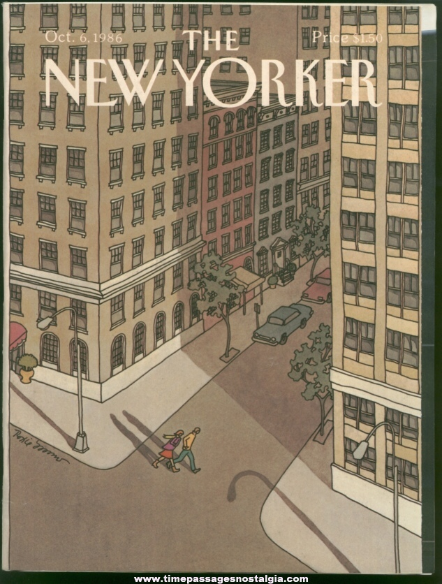 New Yorker Magazine - October 6, 1986 - Cover by Roxie Munro