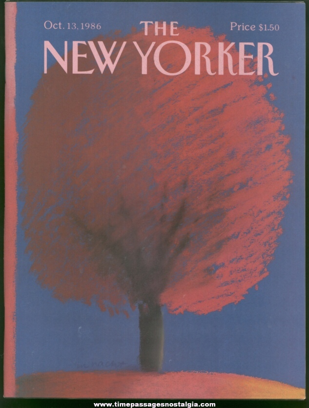 New Yorker Magazine - October 13, 1986 - Cover by Merle Nacht