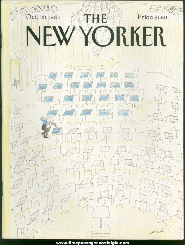 New Yorker Magazine - October 20, 1986 - Cover by J. J. Sempe