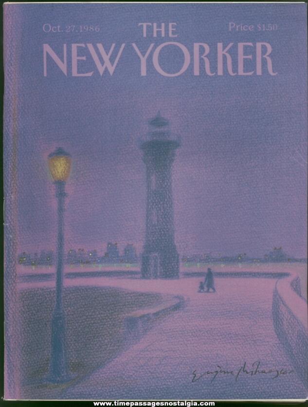 New Yorker Magazine - October 27, 1986 - Cover by Eugene Mihaesco