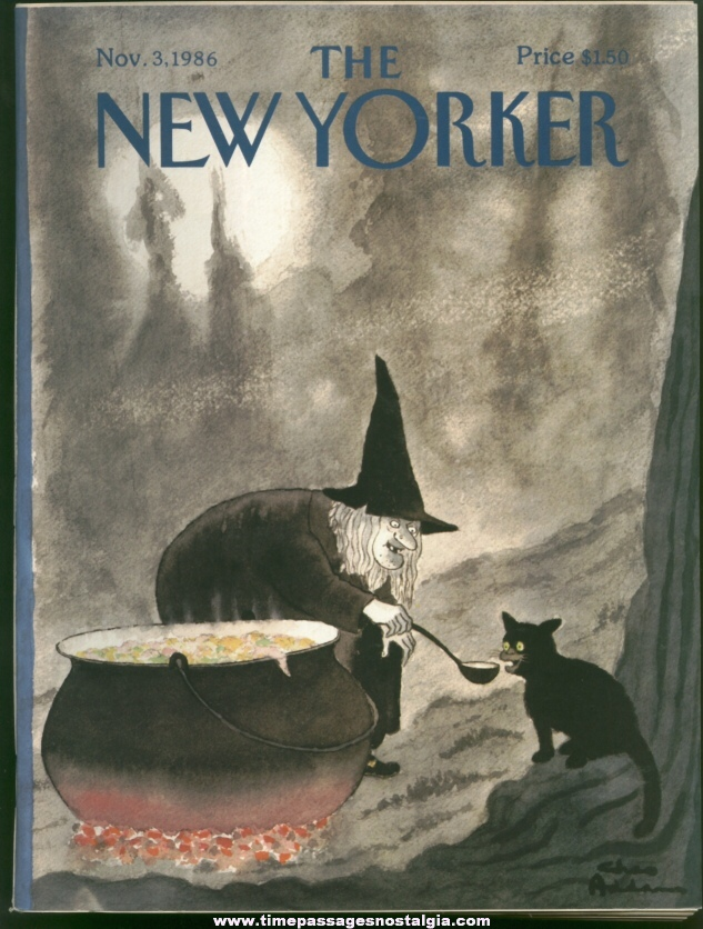 New Yorker Magazine - November 3, 1986 - Cover by Charles (Chas) Addams