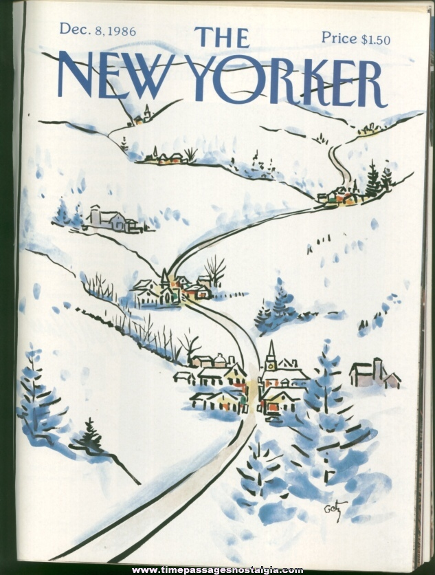 New Yorker Magazine - December 8, 1986 - Cover by Arthur Getz