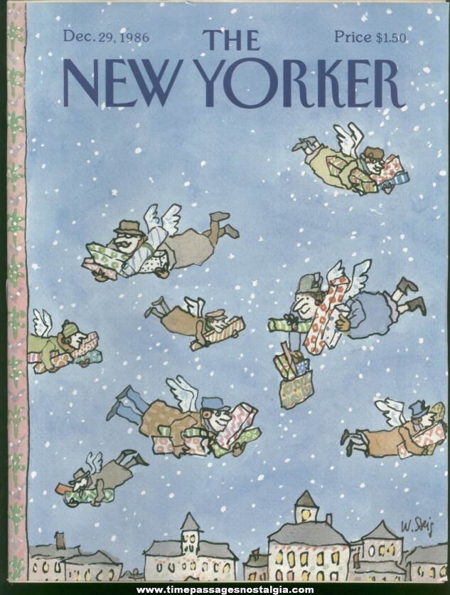 New Yorker Magazine - December 29, 1986 - Cover by William Steig