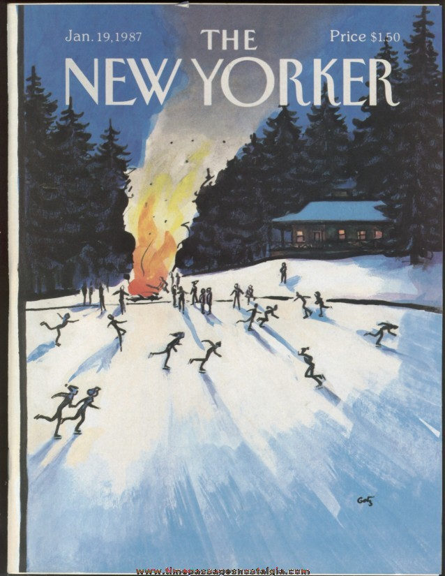 New Yorker Magazine - January 19, 1987 - Cover by Arthur Getz