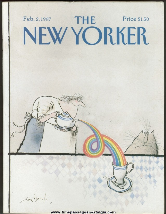 New Yorker Magazine - February 2, 1987 - Cover by Ronald Searle