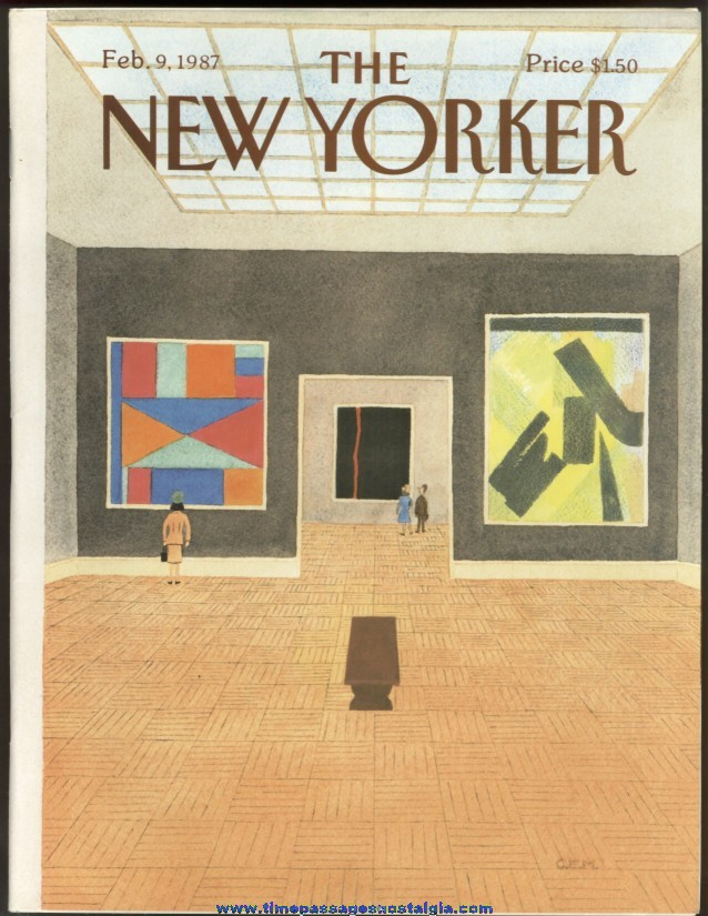 New Yorker Magazine - February 9, 1987 - Cover by Charles E. Martin