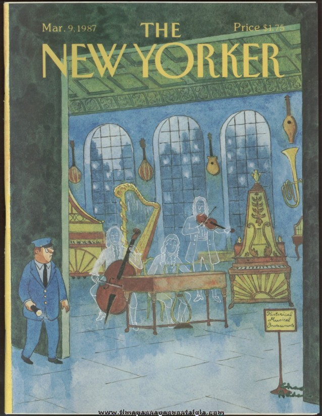 New Yorker Magazine - March 9, 1987 - Cover by Charles (Chas) Addams