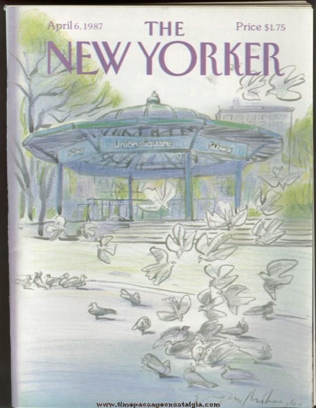 New Yorker Magazine - April 6, 1987 - Cover by Eugene Mihaesco
