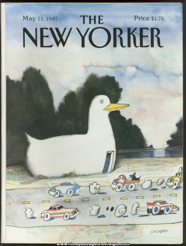 New Yorker Magazine - May 11, 1987 - Cover by Saul Steinberg