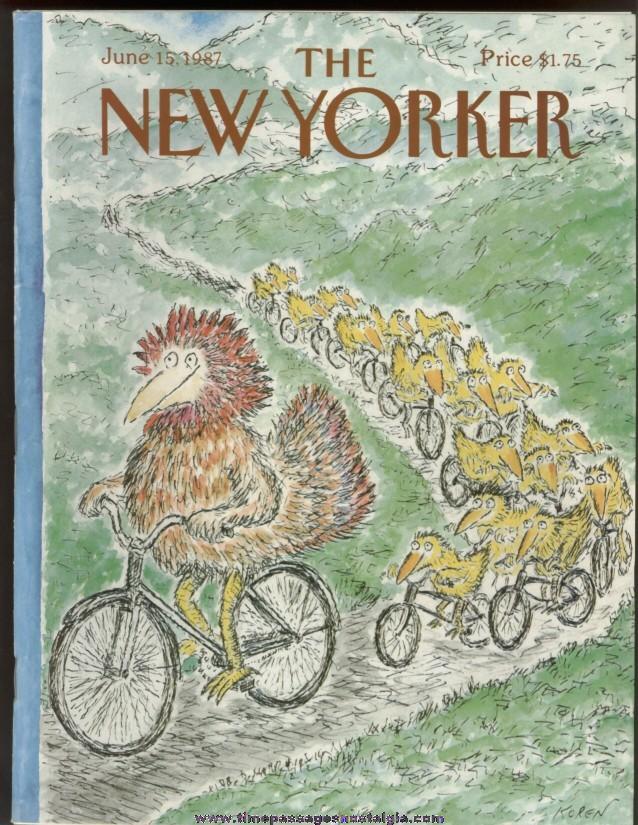 New Yorker Magazine - June 15, 1987 - Cover by Edward Koren