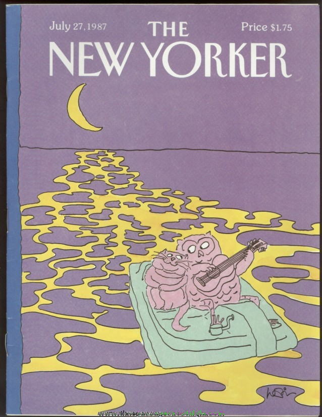 New Yorker Magazine - July 27, 1987 - Cover by Arnie Levin