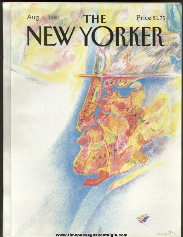 New Yorker Magazine - August 3, 1987 - Cover by Andrzej Czeczot