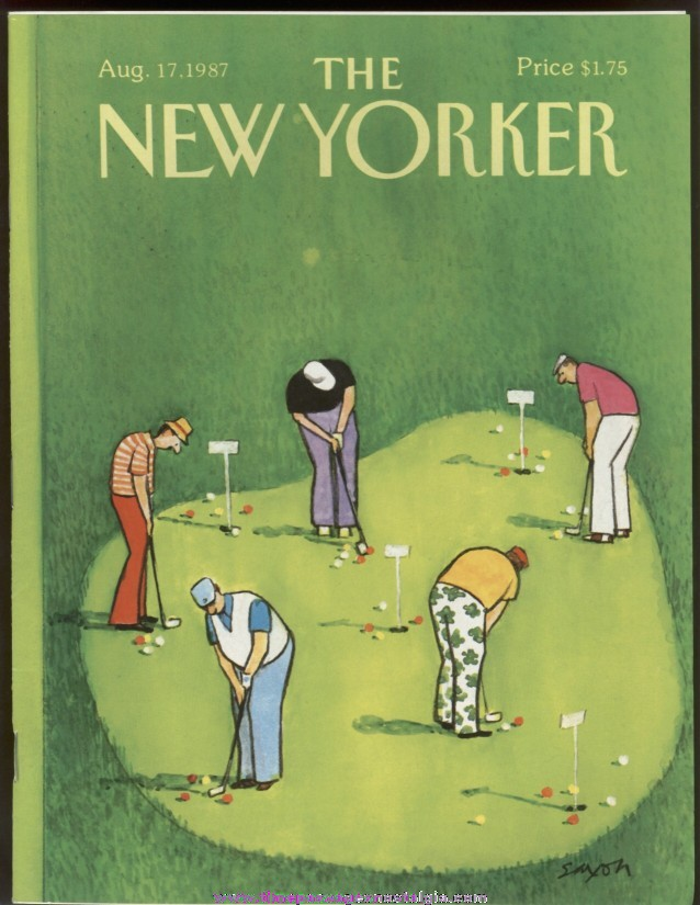 New Yorker Magazine - August 17, 1987 - Cover by Charles Saxon