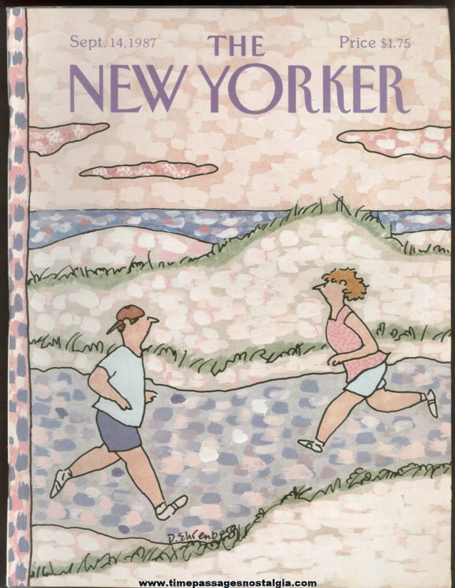New Yorker Magazine - September 14, 1987 - Cover by Devera Ehrenberg