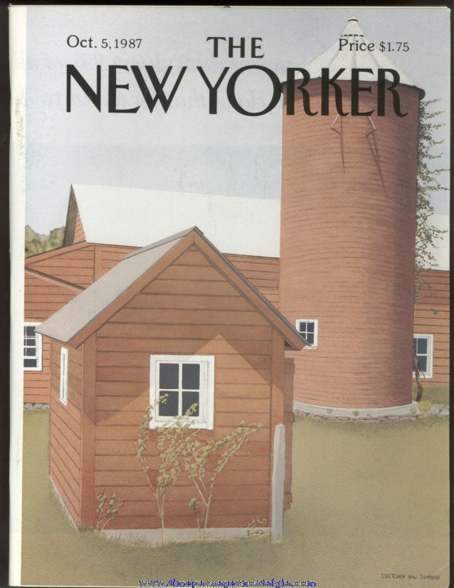 New Yorker Magazine - October 5, 1987 - Cover by Gretchen Dow Simpson