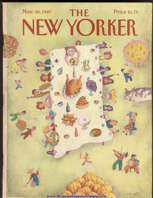 New Yorker Magazine - November 30, 1987 - Cover by Andrzej Czeczot